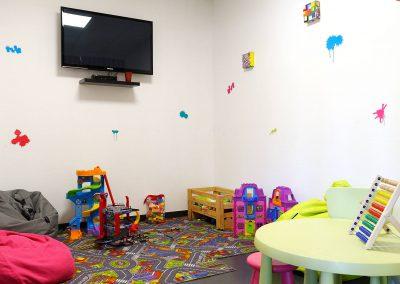 Espace prévu pour les enfants